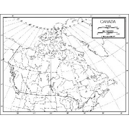 Canada Outline Map 50 Pack