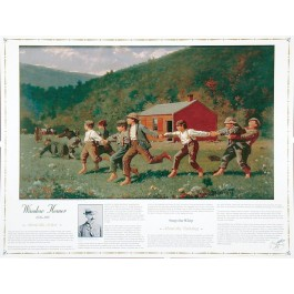 Masterworks of Art - Winslow Homer - Snap the Whip