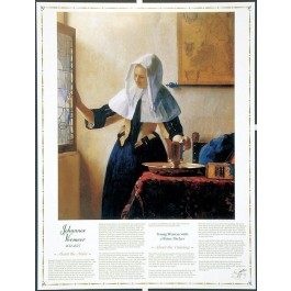 Masterworks of Art - Johannes Vermeer - Young Woman with a Water Pitcher