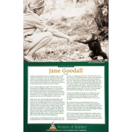 Women of Science - Jane Goodall Poster