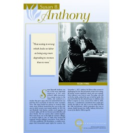 Women's Rights Pioneers - Susan B. Anthony poster