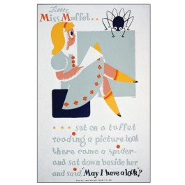 Historic Reading Posters - Little Miss Muffet ...