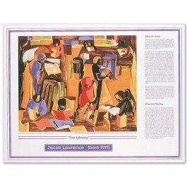 African American Artists Print - Jacob Lawrence - The Library