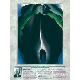 Notable Women Artists - Georgia O'Keeffe - Jack-in-the-Pulpit No. IV