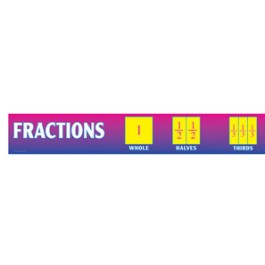 Fractions-Chalkboard Toppers