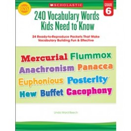240 Vocabulary Words 6th Grade Kids Need to Know