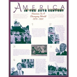 America in a Changing World (1975-1991) - America in the 20th Century poster