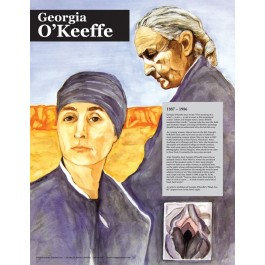 Georgia O'Keeffe - Great American Women - poster