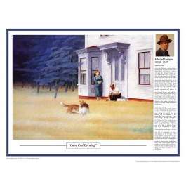 Twentieth Century Art Masterpieces - Hopper - Cape Cod Evening poster