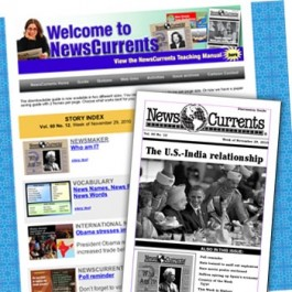 NewsCurrents Online (with printed teacher's guide mailed)