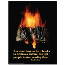 Burning Book- Ray Bradbury Poster