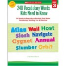 240 Vocabulary Words 3rd Grade Kids Need to Know