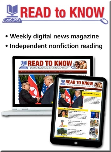 Read To Know, a weekly digital news magazine for independent nonfiction reading.