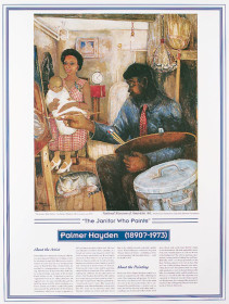 African American Artists - Palmer Hayden - The Janitor Who Paints poster