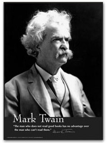 Mark Twain - The Man Who Does Not Read poster
